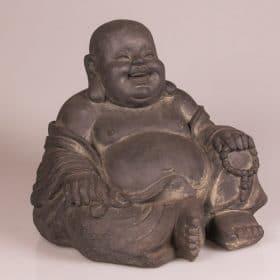 Tuinbeeld blije boeddha
