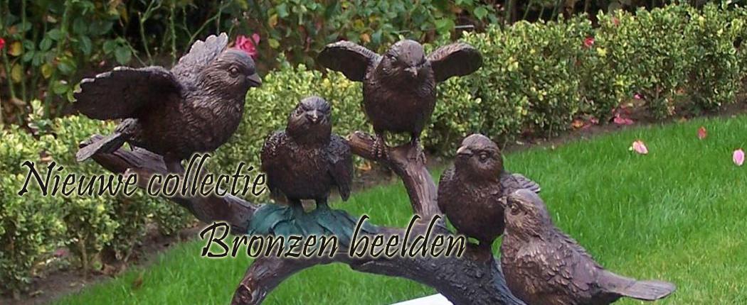 Prachtige bronzen beelden voor huis en tuin.