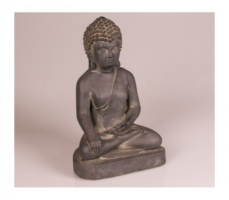 Zittend boeddhabeeld zwart