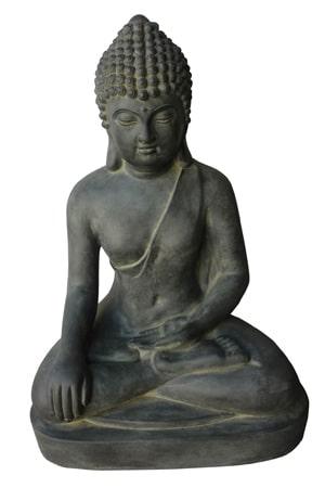 zittende boeddha grijs zwart gerichtekeuze