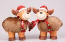 Setje rendieren kerstdecoratie