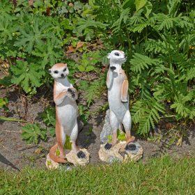 Stokstaartjes-als-tuinbeeld