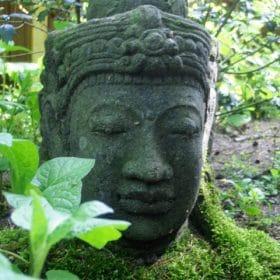Tuindoek boeddha hoofd