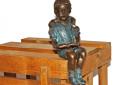 AN1499BRW-V--bronzen-beeld-lezend-meisje