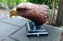 bronzen arendskop