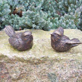 Setje bronzen vogeltjes