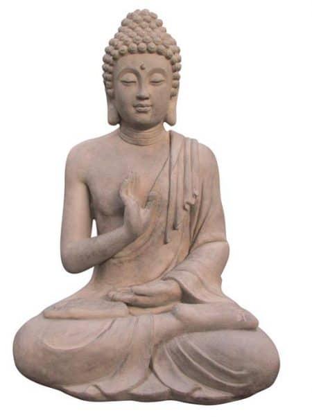 Boeddha gerechtigheid cement look