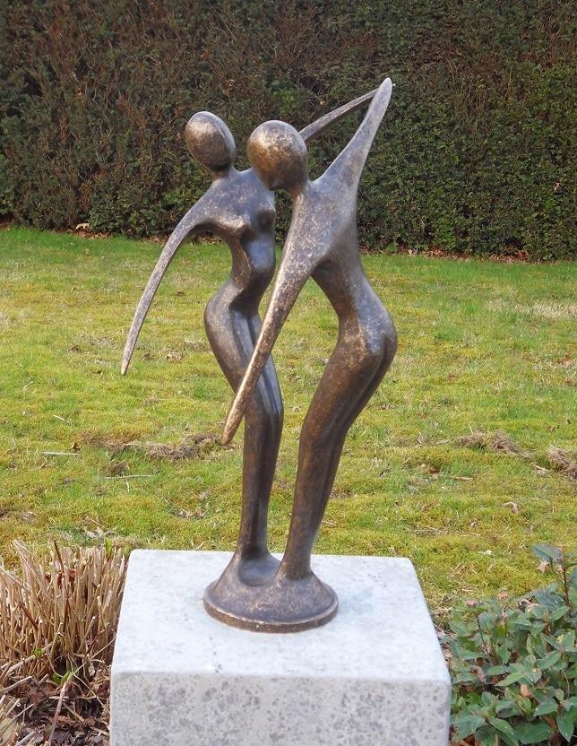 bronzen beeld modern danspaar kopen gerichtekeuze ForBeeld Tuin Modern