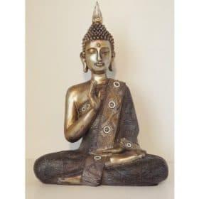 boeddha zittend brons antiek