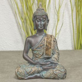 Meditatie Boeddha antiek 15cm
