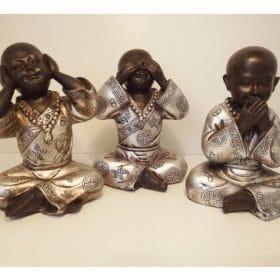 Shaolin Monniken Horen Zien En Zwijgen 15cm