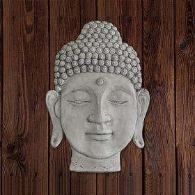 boeddha hoofd wandplaat
