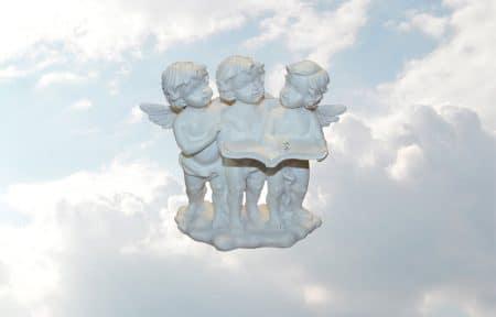engelen op wolk