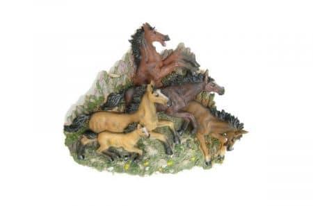 3d wanddecoratie paarden