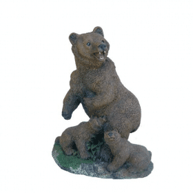 beer staand met jongen