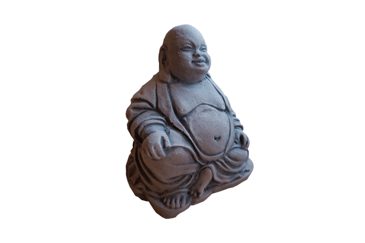 Boeddha Beeld Beton.Happy Boeddha Klein Beton