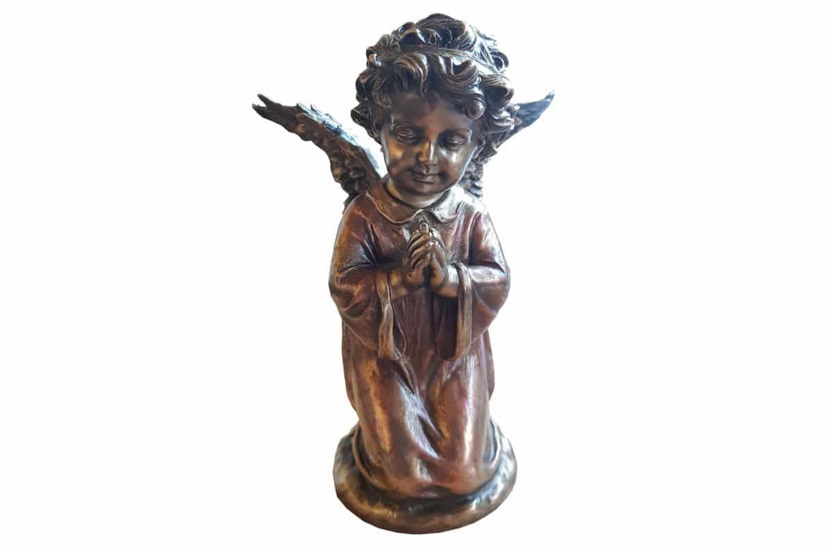 Bronzen Engelen Beelden.Engeltje Brons