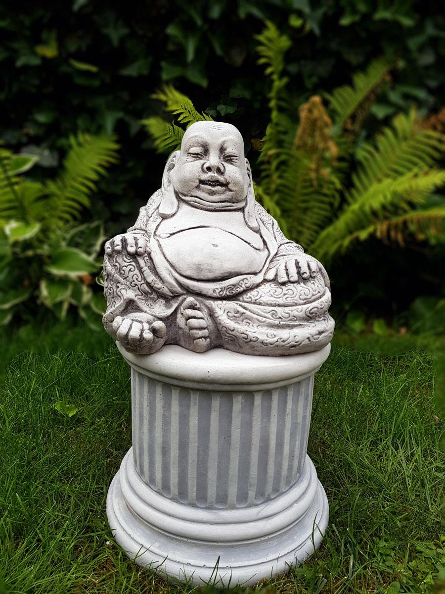 Boeddha Beeld Beton.Betonnen Happy Boeddha