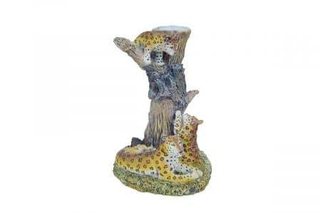 luipaard waxinehouder