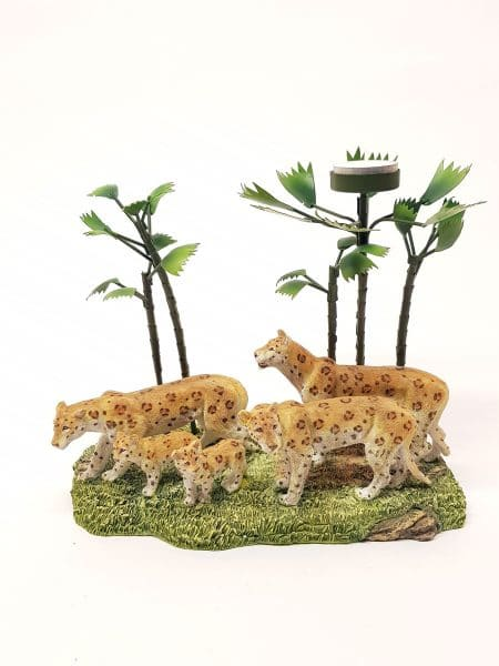 Luipaarden waxinehouder