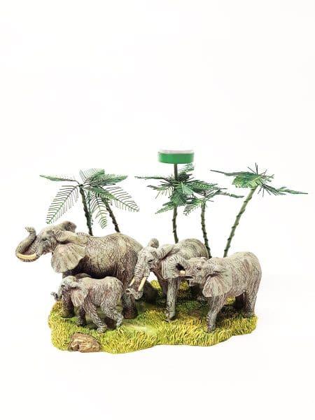 Olifanten met waxinehouder