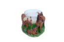 paarden waxinehouder