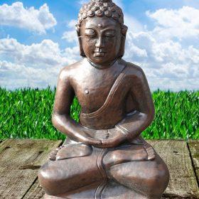 Bronzen Boeddha zit