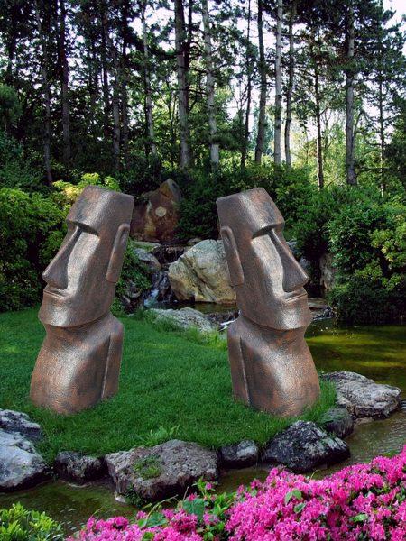 Moai beeld donker 1071-B