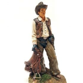 Cowboy met zadel