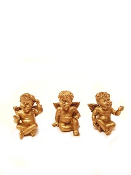 Engelen setje goud