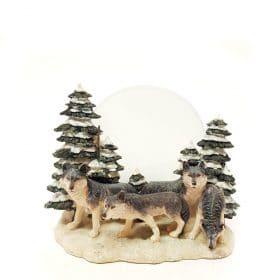 Wolven waxinehouder