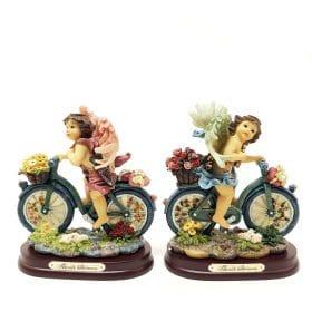 Engelen op fiets
