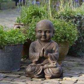 Namaste mudra als shaolin beeld 40cm