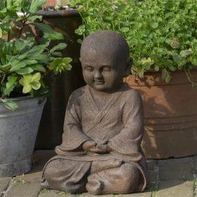 Shaolin beeld in meditatie houding 42cm