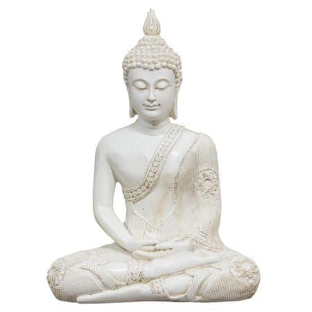 Thais boeddha meditatie wit