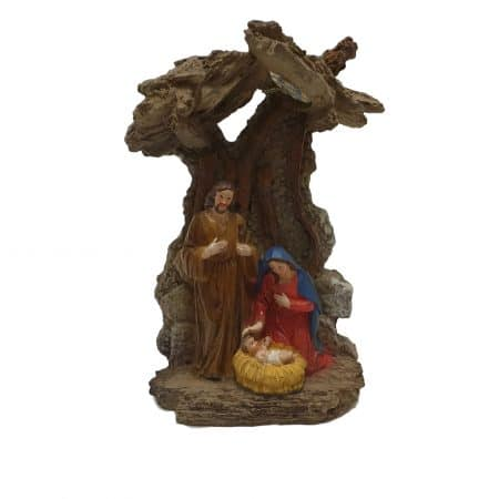 kerststalletje jozef maria jezus 21cm