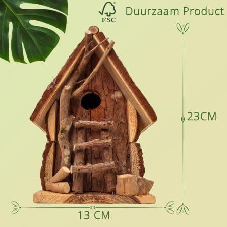 Duurzaam Houten Vogelhuisje opening van 32 mm