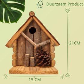 Duurzaam Vogelhuisje opening van 27 mm met Dennenappel