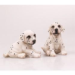 dalmatier pups beeld levensecht polystone
